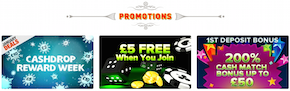 CoinFalls Online Casino Promotions